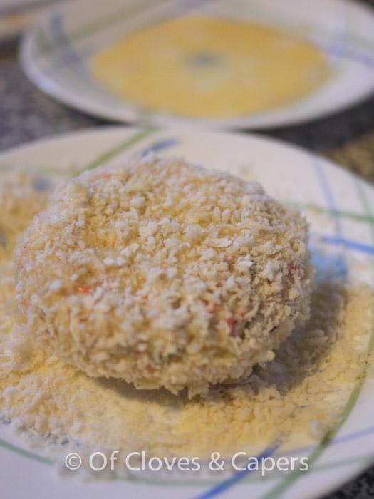 Salmon & cod fishcake with potatoes