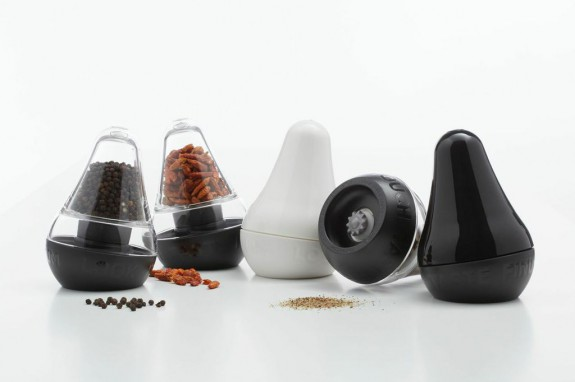 Finum look touch taste a stylish grinder for salt pepper Funky salt and pepper grinders